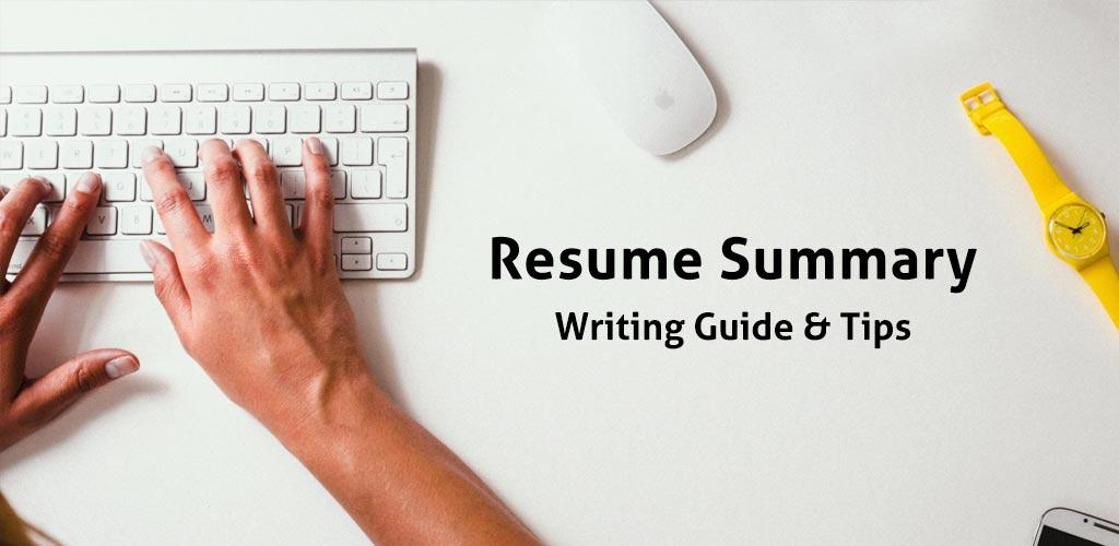Resume Summary Example Tips