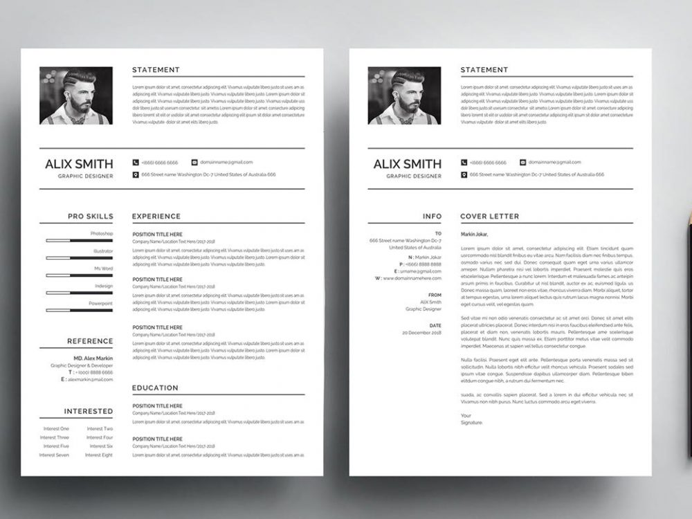Modern Cover Letter Template Free Download لم يسبق له مثيل الصور