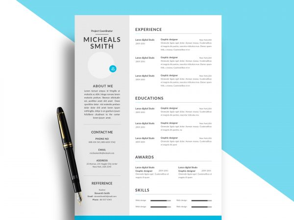Resume Template with Two Columns