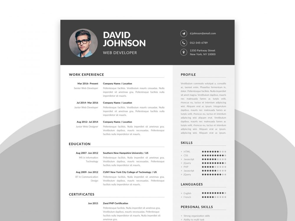 Free Resume Template In Ms Word Psd Format Setresume